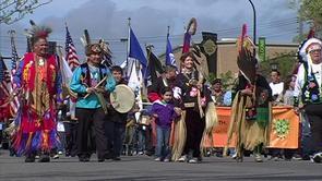 Ojibwe parade